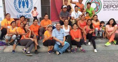 Habilitan autoridades municipales y ACNUR espacios deportivos en el sur de México para fomentar coexistencia e inclusión