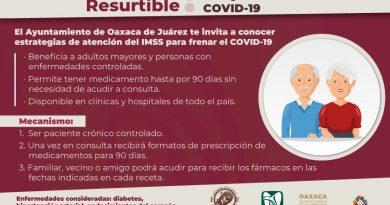 Invita Ayuntamiento de Oaxaca a conocer estratégias de atención del IMSS para frenar el COVID-19