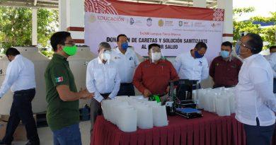 Comunidad tecnológica dona insumos para protección de la salud en zona Sur del estado