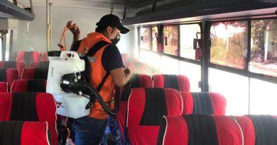 Reinicia Gobierno de Tuxtepec sanitización de vehículos en principales accesos a la ciudad